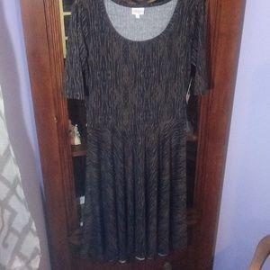 NEW LULAROE NICOLE DRESS SIZE L